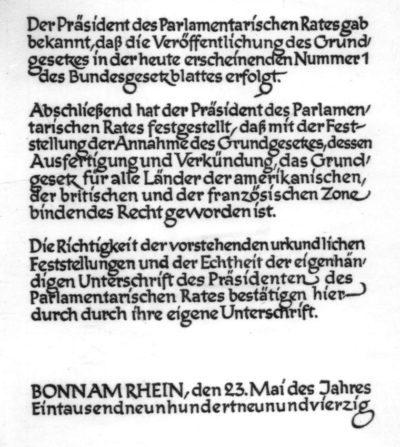 Grundgesetz 2019