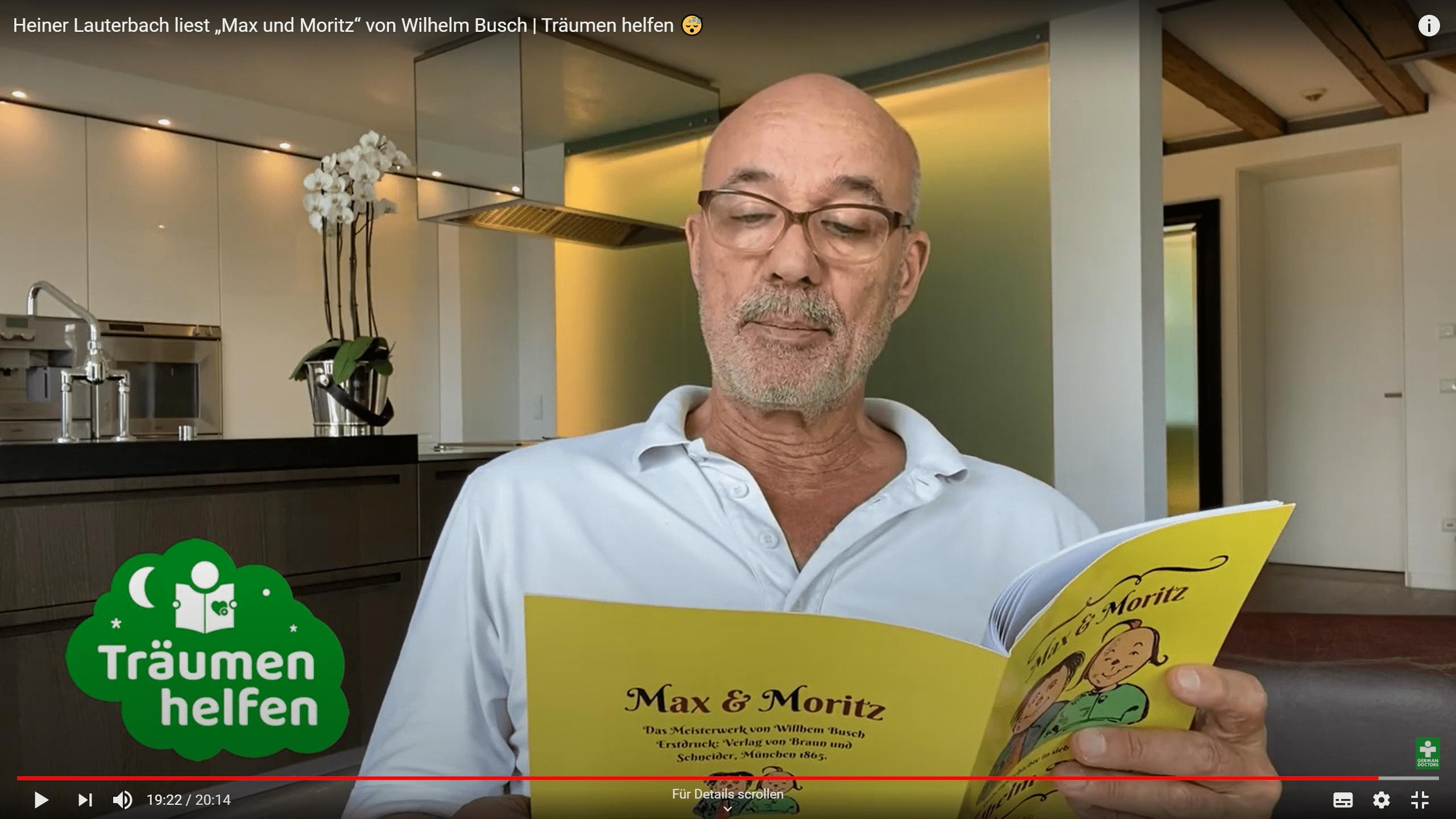 Heiner Lauterbach liest Max und Moritz LIWI Verlag Der Literatur und Wissenschaftsverlag